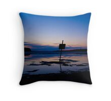 Sunset on a lake in Elk Island National Park Throw Pillow