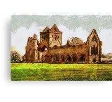 Sweetheart Abbey, Dumfries, Scotland - all products Canvas Print