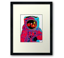 psychedelic astronaught  Framed Print