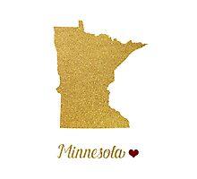 Minnesota map Photographic Print