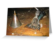 Handpiece & Oil Can Greeting Card