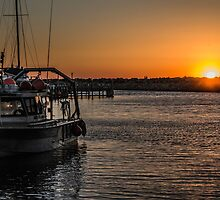 Fishing Boat Sunset by Mark  Nangle
