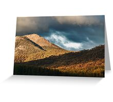 Hills on fire Greeting Card