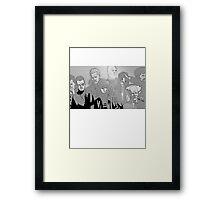 Ghost in the Shell Crew - Engraved Style Framed Print