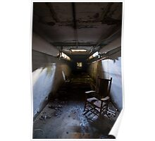rocking chair in tunnel Poster