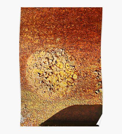 orange desert sun Poster