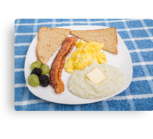 Country Breakfast Canvas Print