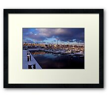 Fresh Snow In Bangor Framed Print