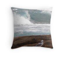Mountainous seas at Cape Leeuwin Throw Pillow