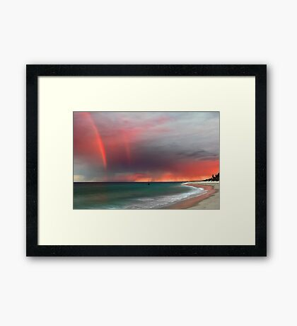 Cottesloe Beach Sunrise Framed Print