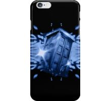 Tardis in the classic vortex iPhone Case/Skin