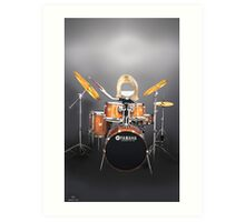 Corky's playing the Drums Art Print