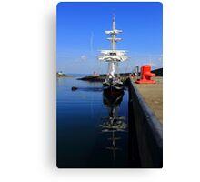 Tall Ship Alongside Canvas Print