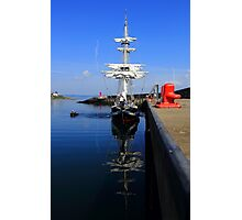 Tall Ship Alongside Photographic Print
