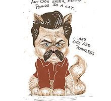 Ron Swanson Cat by SUZANNE HEAD