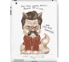 Ron Swanson Cat iPad Case/Skin