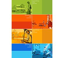 Something Like... series Seasons poster Photographic Print