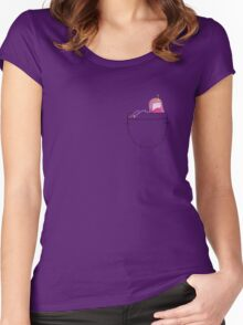 Princess Bubblegum Pocket Pal - Adventure Time Women's Fitted Scoop T-Shirt