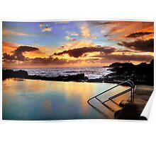 Sunrise Pool Poster