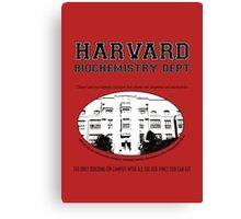 Fringe Harvard University BioChemistry Department Canvas Print