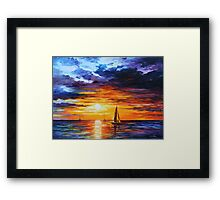 TOUCH OF HORIZON limited edition giclee of L.AFREMOV painting Framed Print