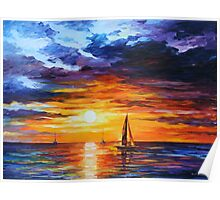 TOUCH OF HORIZON limited edition giclee of L.AFREMOV painting Poster