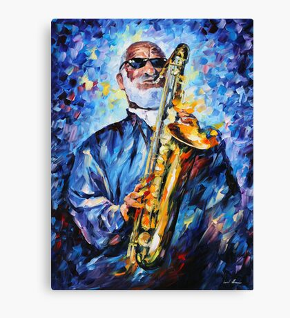 SONNY ROLLINS limited edition giclee of L.AFREMOV painting Canvas Print