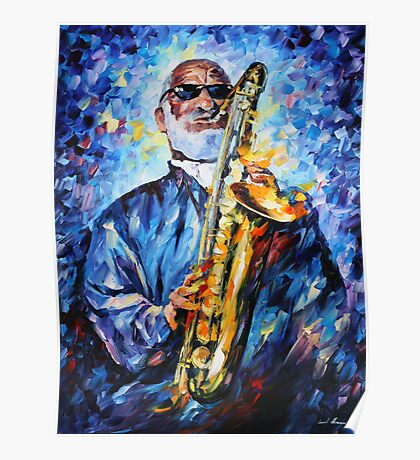 SONNY ROLLINS limited edition giclee of L.AFREMOV painting Poster