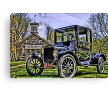 Lutz Franklin School & Model T Canvas Print