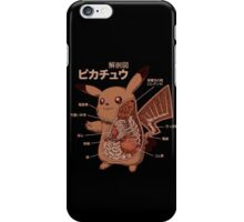 Pikachu Japanese anatomy graphic iPhone Case/Skin