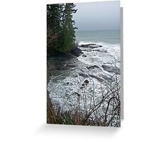 """""""A Stormy Day at Tongue Point"""" Greeting Card"""
