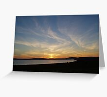 Sunset over Scapa Greeting Card