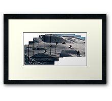 360 grab Framed Print
