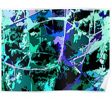 Like Pollock in the Blue Swamp Poster