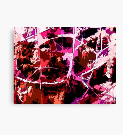 Like Pollock in the Red Swamp Canvas Print