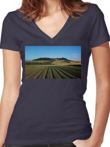 Scrabo In View Women's Fitted V-Neck T-Shirt