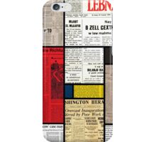 Mondrians News iPhone Case/Skin