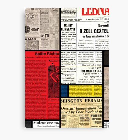 Mondrians News Canvas Print