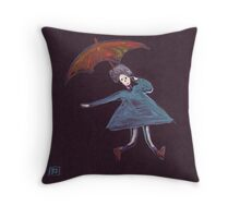Girl with a brolly Throw Pillow