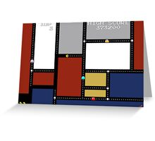 Game Painting Pacman Greeting Card