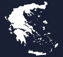 Map of Greece T-Shirt by manomano2