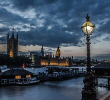 London - Blue Hour by Mark  Nangle