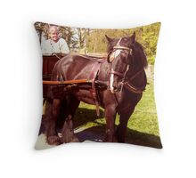 horse and trap ... Throw Pillow