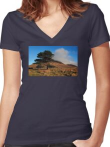 A Lonely Place Women's Fitted V-Neck T-Shirt