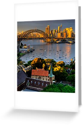 St Francis Pray For Us  - Moods of A City #14 -  The HDR Series, Sydney Australia by Philip Johnson