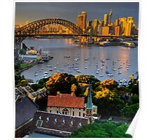 St Francis Pray For Us  - Moods of A City #14 -  The HDR Series, Sydney Australia Poster