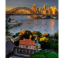 St Francis Pray For Us  - Moods of A City #14 -  The HDR Series, Sydney Australia Photographic Print