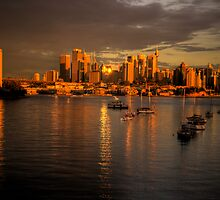 Last Rays Of Day -Moods Of A City #20 - The HDR Series , Sydney Australia by Philip Johnson