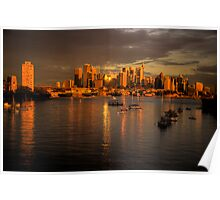 Last Rays Of Day -Moods Of A City #20 - The HDR Series , Sydney Australia Poster
