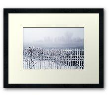 Frozen fence Framed Print